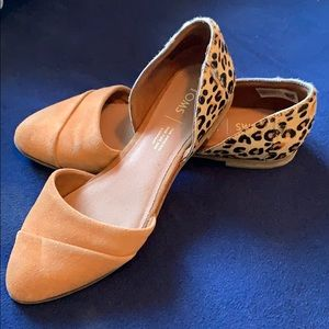 Jutti d'Orsay Leopard Haircalf and Suede Flats